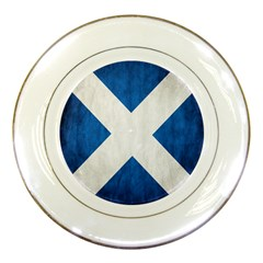 Scotland Flag Surface Texture Color Symbolism Porcelain Plates