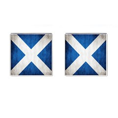 Scotland Flag Surface Texture Color Symbolism Cufflinks (square) by Simbadda