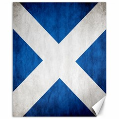 Scotland Flag Surface Texture Color Symbolism Canvas 16  X 20   by Simbadda