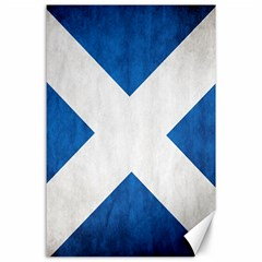 Scotland Flag Surface Texture Color Symbolism Canvas 24  X 36  by Simbadda
