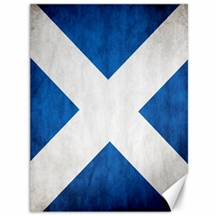 Scotland Flag Surface Texture Color Symbolism Canvas 36  X 48   by Simbadda