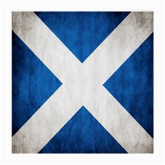 Scotland Flag Surface Texture Color Symbolism Medium Glasses Cloth by Simbadda