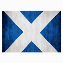 Scotland Flag Surface Texture Color Symbolism Large Glasses Cloth by Simbadda