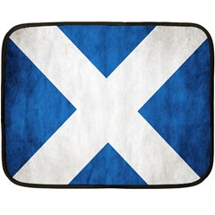 Scotland Flag Surface Texture Color Symbolism Double Sided Fleece Blanket (mini)  by Simbadda