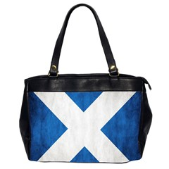 Scotland Flag Surface Texture Color Symbolism Office Handbags (2 Sides)  by Simbadda