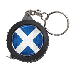 Scotland Flag Surface Texture Color Symbolism Measuring Tapes by Simbadda