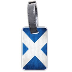 Scotland Flag Surface Texture Color Symbolism Luggage Tags (one Side)  by Simbadda