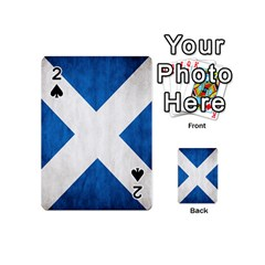 Scotland Flag Surface Texture Color Symbolism Playing Cards 54 (mini)  by Simbadda