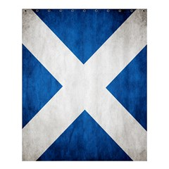 Scotland Flag Surface Texture Color Symbolism Shower Curtain 60  X 72  (medium)  by Simbadda