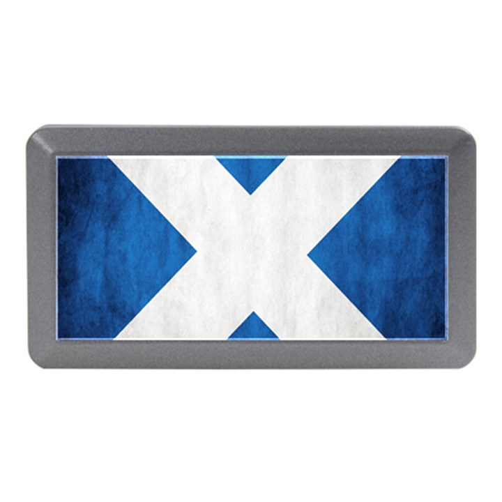 Scotland Flag Surface Texture Color Symbolism Memory Card Reader (Mini)