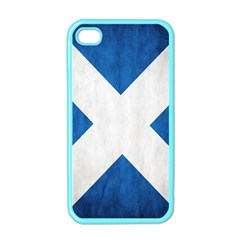 Scotland Flag Surface Texture Color Symbolism Apple Iphone 4 Case (color) by Simbadda