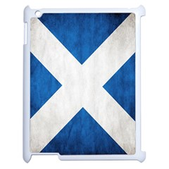 Scotland Flag Surface Texture Color Symbolism Apple Ipad 2 Case (white) by Simbadda