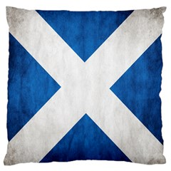 Scotland Flag Surface Texture Color Symbolism Large Cushion Case (two Sides) by Simbadda