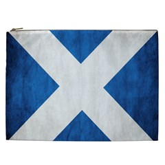 Scotland Flag Surface Texture Color Symbolism Cosmetic Bag (xxl)