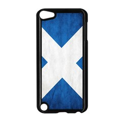 Scotland Flag Surface Texture Color Symbolism Apple Ipod Touch 5 Case (black) by Simbadda