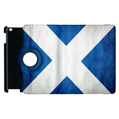 Scotland Flag Surface Texture Color Symbolism Apple Ipad 3/4 Flip 360 Case by Simbadda