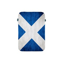 Scotland Flag Surface Texture Color Symbolism Apple Ipad Mini Protective Soft Cases by Simbadda