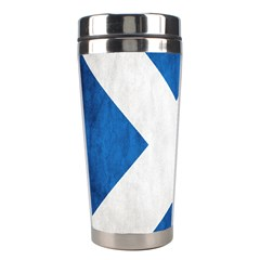 Scotland Flag Surface Texture Color Symbolism Stainless Steel Travel Tumblers by Simbadda