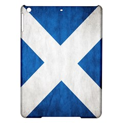 Scotland Flag Surface Texture Color Symbolism Ipad Air Hardshell Cases by Simbadda