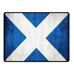 Scotland Flag Surface Texture Color Symbolism Double Sided Fleece Blanket (small)  by Simbadda