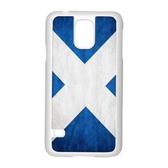 Scotland Flag Surface Texture Color Symbolism Samsung Galaxy S5 Case (white) by Simbadda