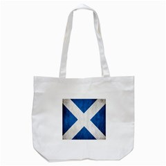 Scotland Flag Surface Texture Color Symbolism Tote Bag (white) by Simbadda