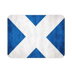 Scotland Flag Surface Texture Color Symbolism Double Sided Flano Blanket (mini)  by Simbadda