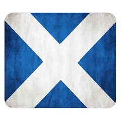 Scotland Flag Surface Texture Color Symbolism Double Sided Flano Blanket (small)  by Simbadda