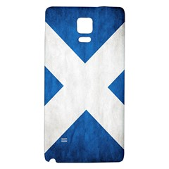 Scotland Flag Surface Texture Color Symbolism Galaxy Note 4 Back Case by Simbadda