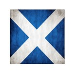 Scotland Flag Surface Texture Color Symbolism Small Satin Scarf (Square) Front