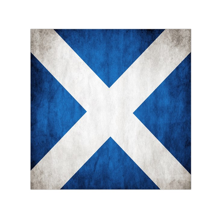 Scotland Flag Surface Texture Color Symbolism Small Satin Scarf (Square)