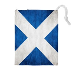 Scotland Flag Surface Texture Color Symbolism Drawstring Pouches (extra Large) by Simbadda
