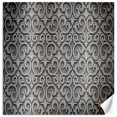 Patterns Wavy Background Texture Metal Silver Canvas 12  X 12   by Simbadda