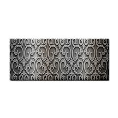 Patterns Wavy Background Texture Metal Silver Cosmetic Storage Cases by Simbadda