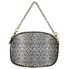 Patterns Wavy Background Texture Metal Silver Chain Purses (two Sides)  by Simbadda
