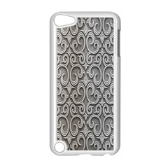 Patterns Wavy Background Texture Metal Silver Apple Ipod Touch 5 Case (white) by Simbadda