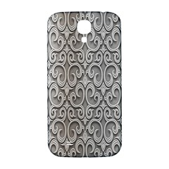 Patterns Wavy Background Texture Metal Silver Samsung Galaxy S4 I9500/i9505  Hardshell Back Case by Simbadda