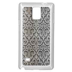 Patterns Wavy Background Texture Metal Silver Samsung Galaxy Note 4 Case (white) by Simbadda