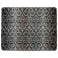 Patterns Wavy Background Texture Metal Silver Jigsaw Puzzle Photo Stand (rectangular) by Simbadda