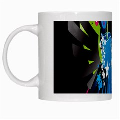 Sneakers Shoes Patterns Bright White Mugs by Simbadda