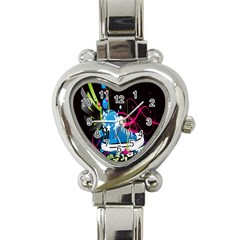 Sneakers Shoes Patterns Bright Heart Italian Charm Watch by Simbadda