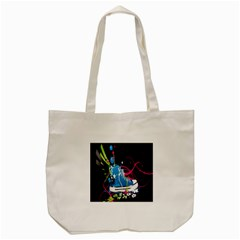 Sneakers Shoes Patterns Bright Tote Bag (cream)