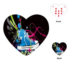 Sneakers Shoes Patterns Bright Playing Cards (heart)