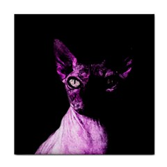 Pink Sphynx Cat Tile Coasters by Valentinaart