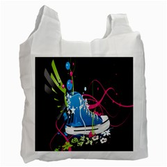 Sneakers Shoes Patterns Bright Recycle Bag (two Side)