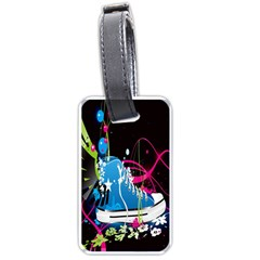 Sneakers Shoes Patterns Bright Luggage Tags (one Side)  by Simbadda