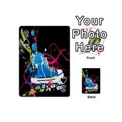 Sneakers Shoes Patterns Bright Playing Cards 54 (mini)  by Simbadda