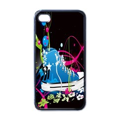 Sneakers Shoes Patterns Bright Apple Iphone 4 Case (black) by Simbadda