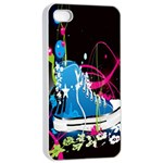 Sneakers Shoes Patterns Bright Apple iPhone 4/4s Seamless Case (White) Front