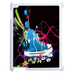 Sneakers Shoes Patterns Bright Apple Ipad 2 Case (white) by Simbadda